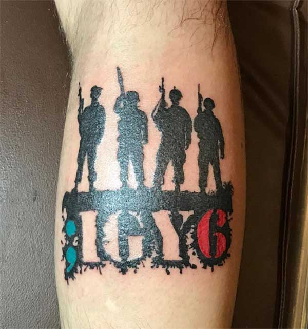 idéia incrível tatuagens militares