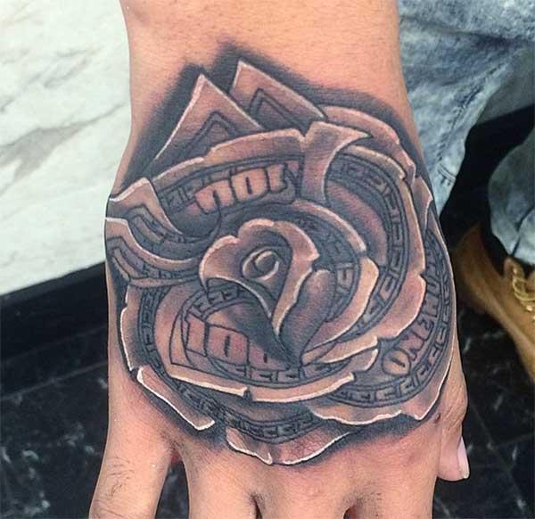 novac ruža tetovaža