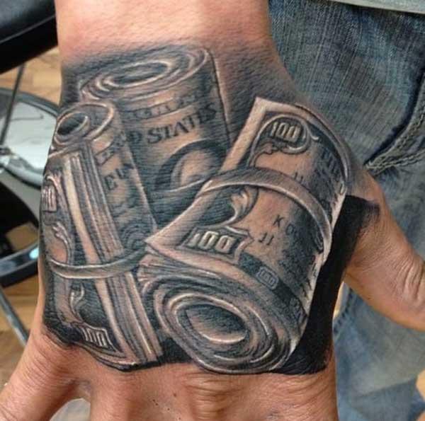 money roll tattoos