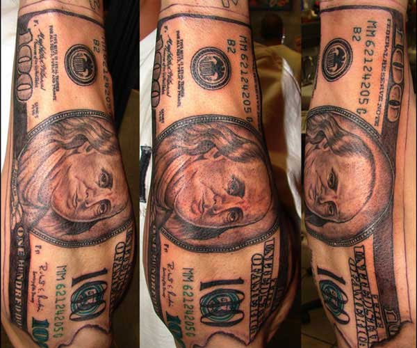 money tattoo images