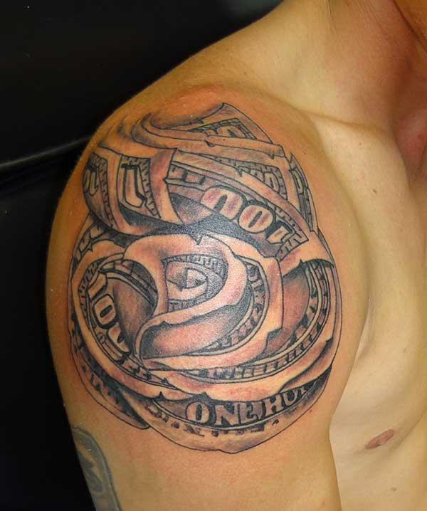 money tattoos for men