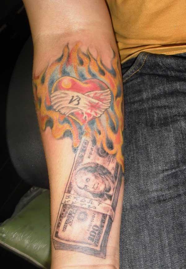 tattoos money