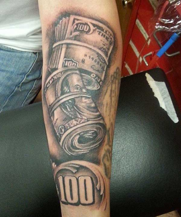 pictures of money tattoos