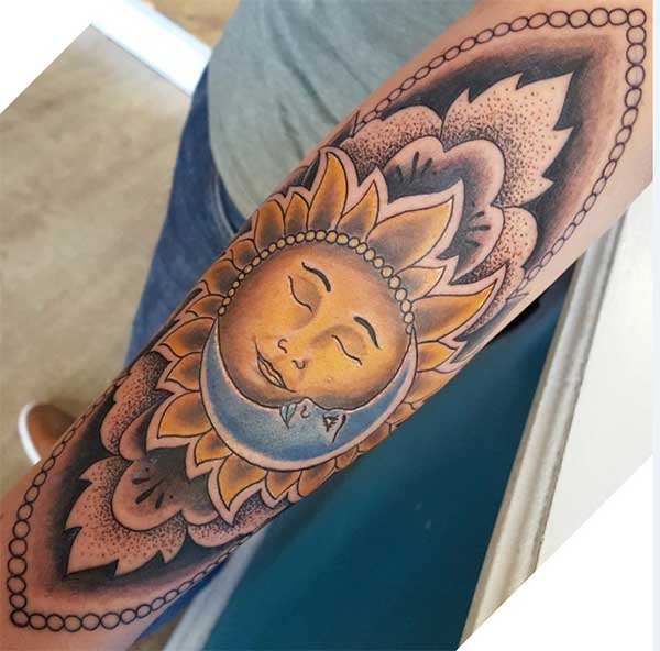 amazing sun and moon tattoos