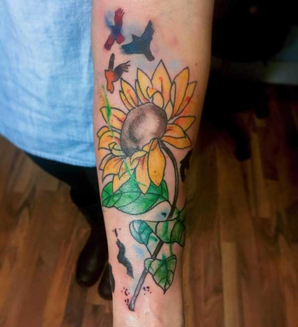 Heboh sunflower tattoo