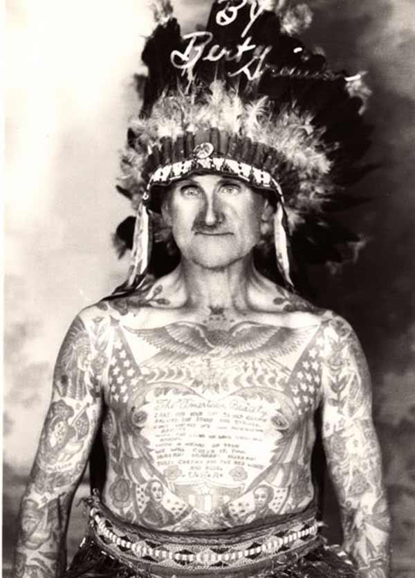 män vintage tatueringar