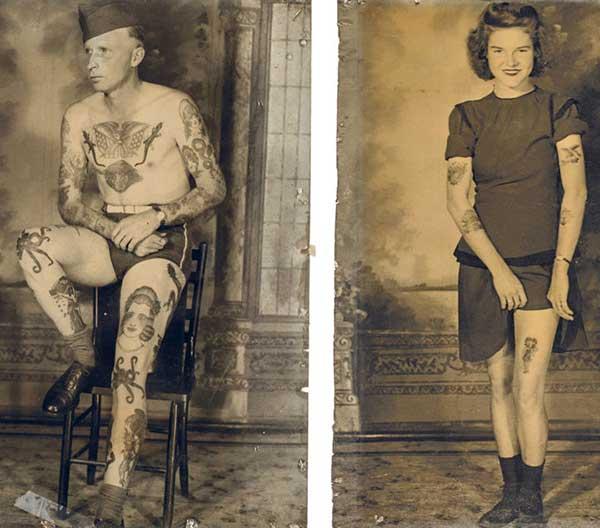tatouages vintage unisexe