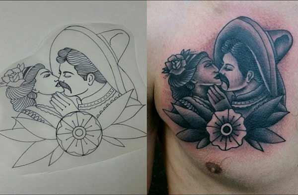 eenvoudige vintage tatoeëermerke