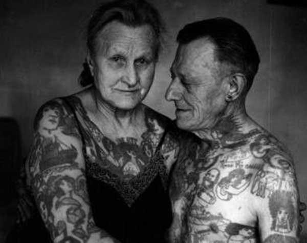 paar vintage tattoos