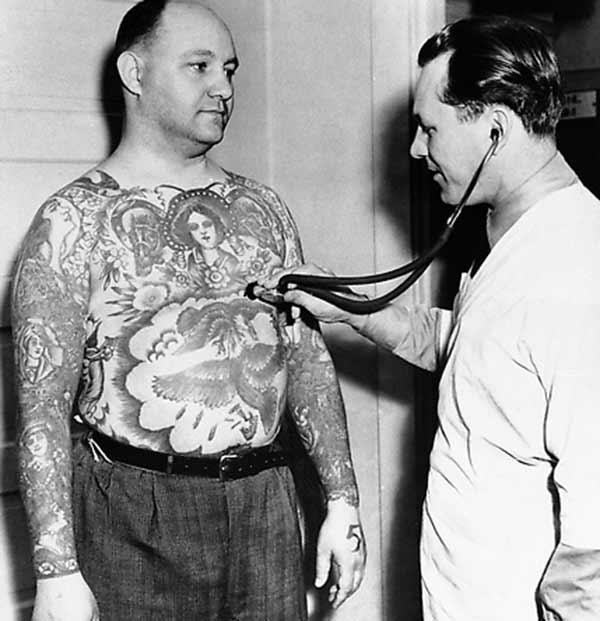 groot vintage tatoeëermerke