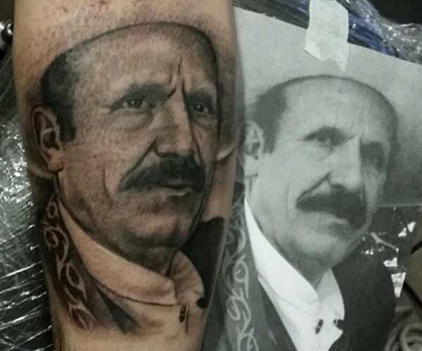 tatouages vintage de portrait
