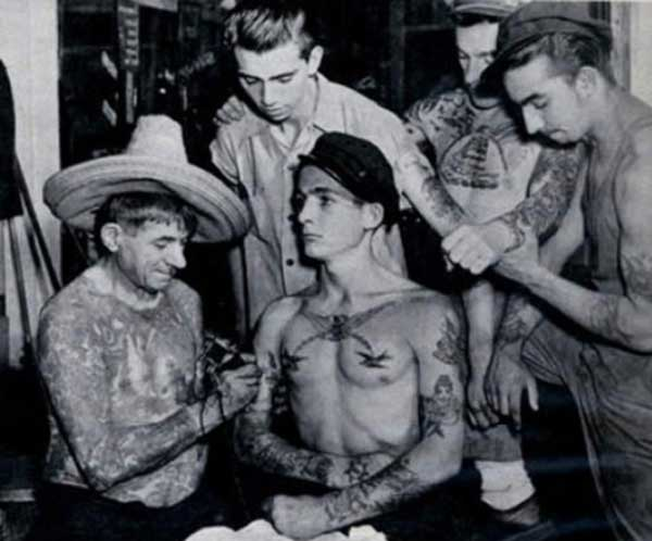 tatouage vintage de gang