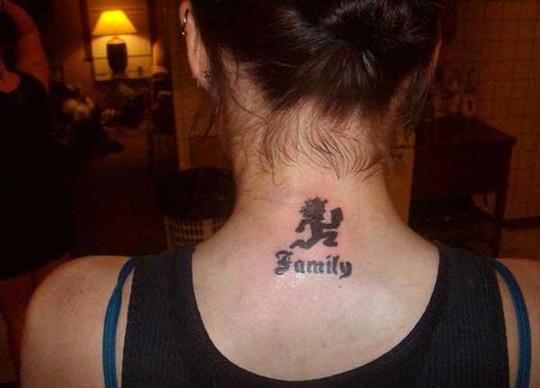 tato keluarga leher