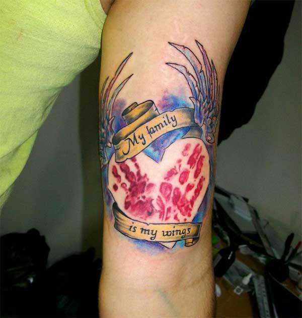 keluarga tato jantung
