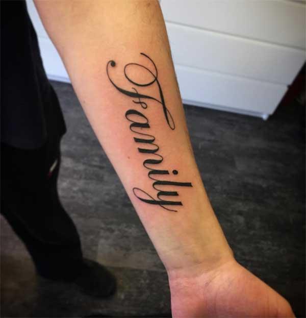 tato keluarga yang lucu