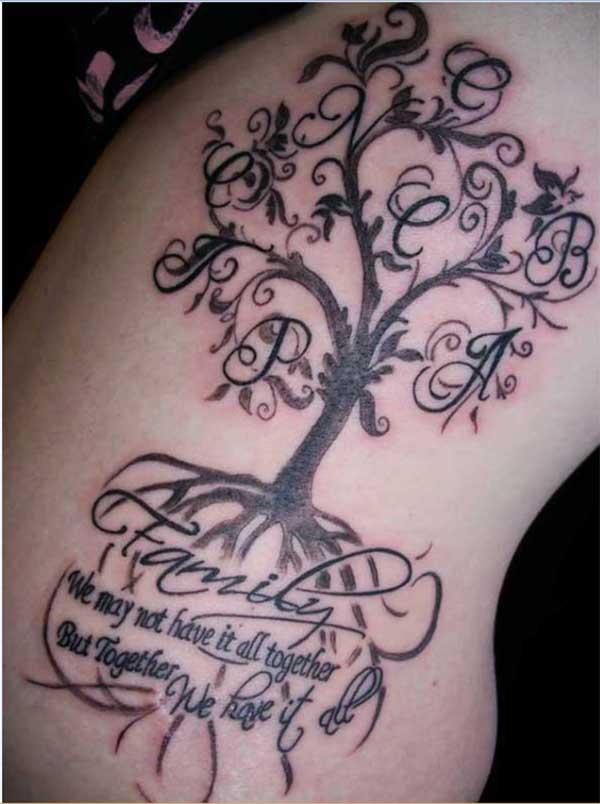 가문의 나무 문신