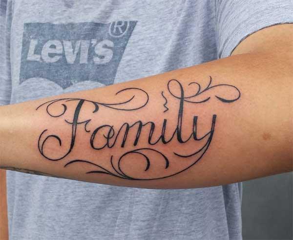 멋진 가족 문신