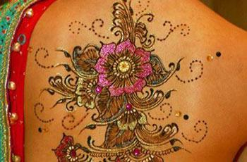 best henna design for back
