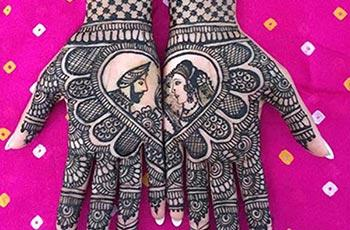 Best henna design for bride bridal
