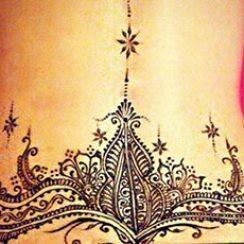 best henna design for lower back