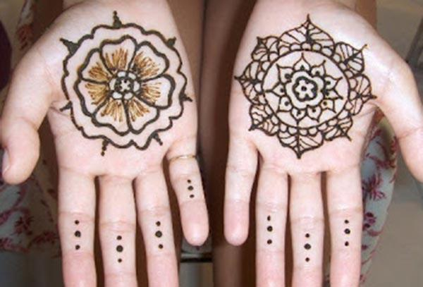 Palms Mehndi tattoo designs ideas