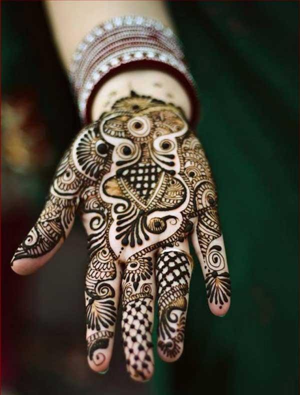 henna mehendi طراحی tatoo برای دست