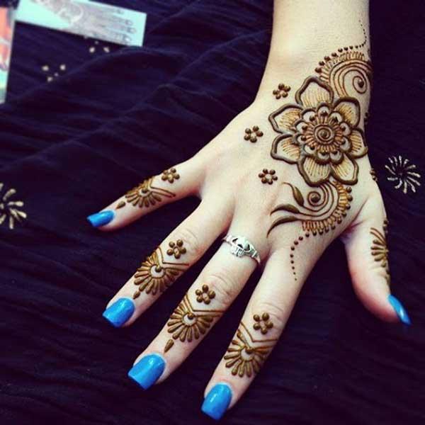 henna mehndi tatto design for hands
