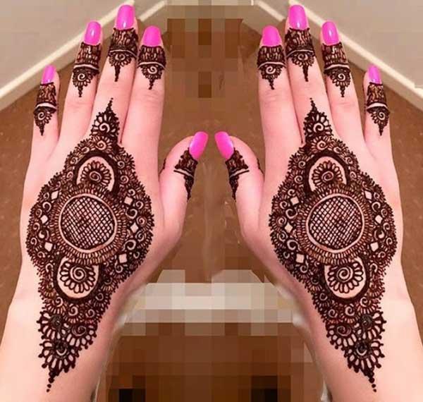 henna mehendi reka bentuk tatu untuk tangan