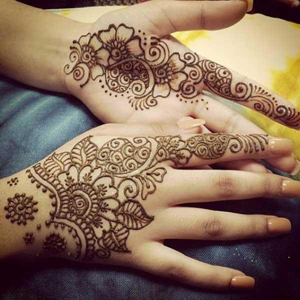 reka bentuk tatu henna mehndi untuk tangan
