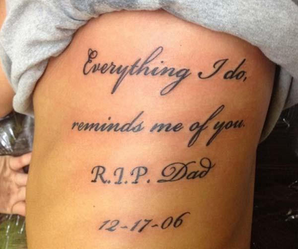 ທຸກສິ່ງທີ່ຂ້ອຍເຮັດ, ເຕືອນຂ້ອຍຂອງເຈົ້າ RIP Dad