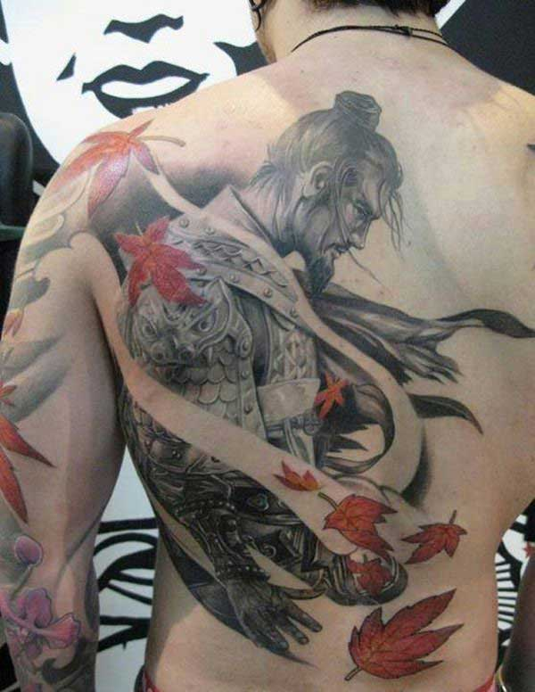 trở lại hình xăm samurai