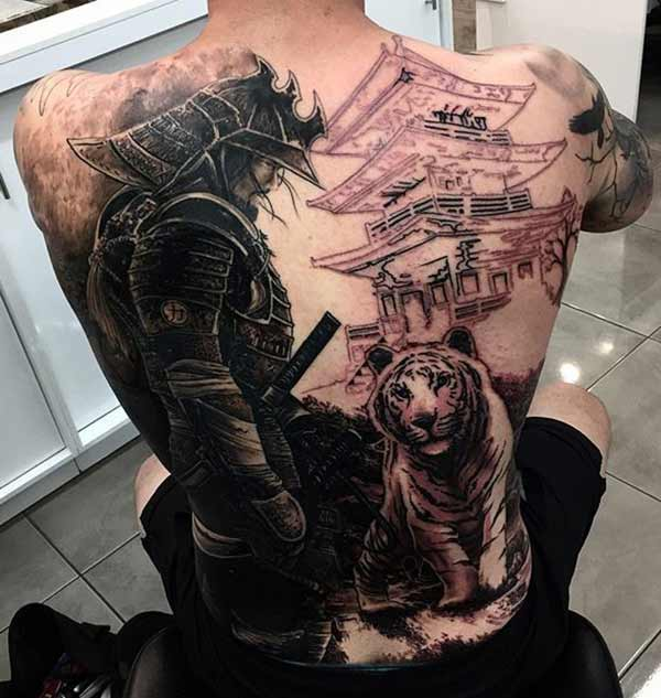 awesome samurai tatoveringer