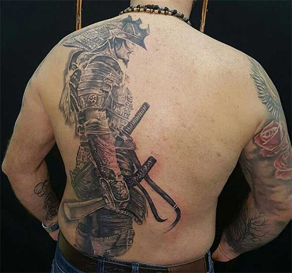 designs for men samurai tattoo