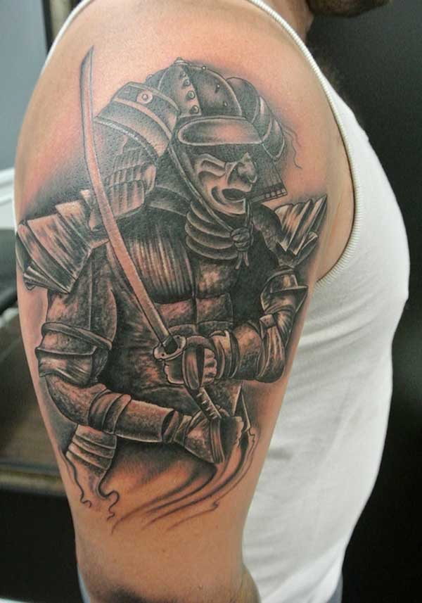 samurai kriger tatovering design
