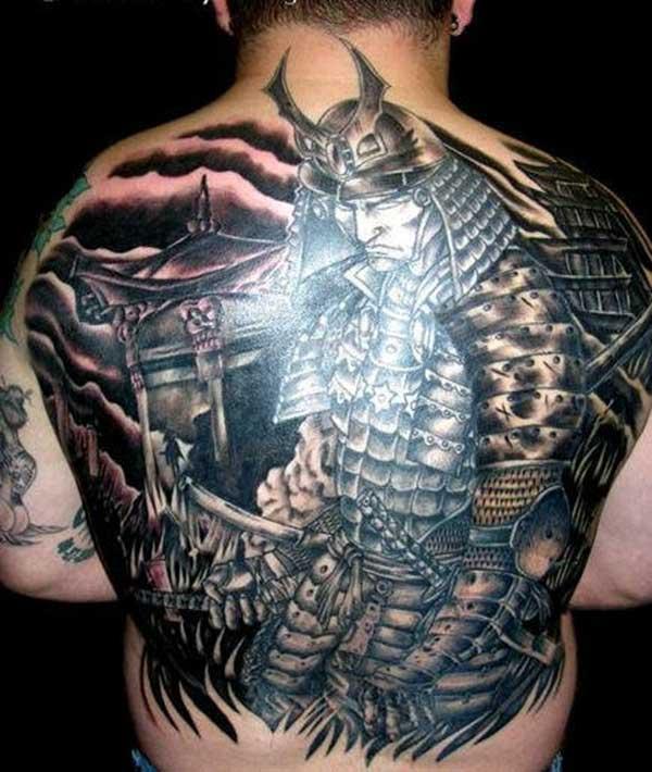 samurajų tatuiruotės nuotraukos