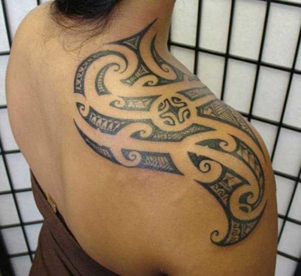 Tinta tribal design tattoo per dami