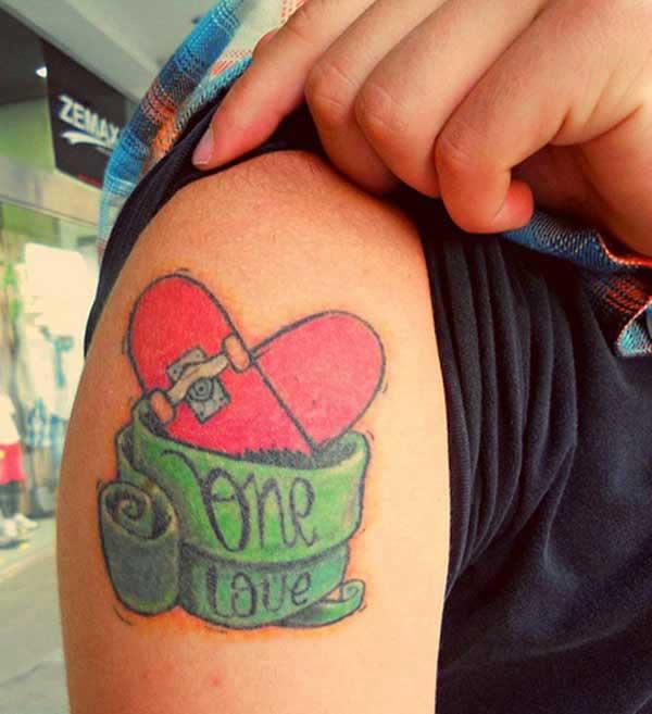 Focail Grá ghualainn Tattoo
