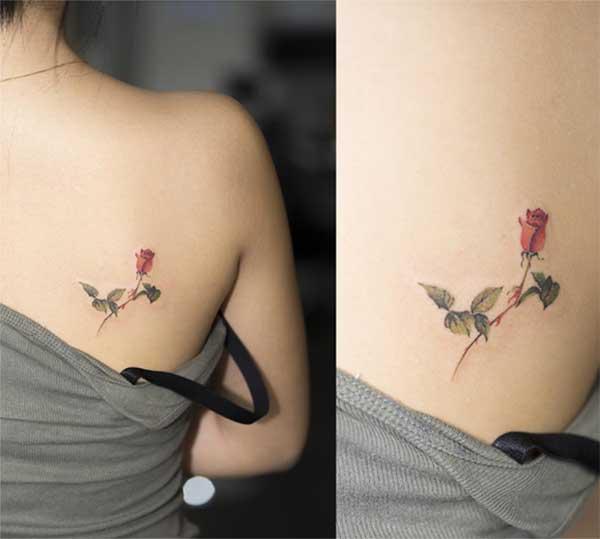 petits tatuatges de rosa