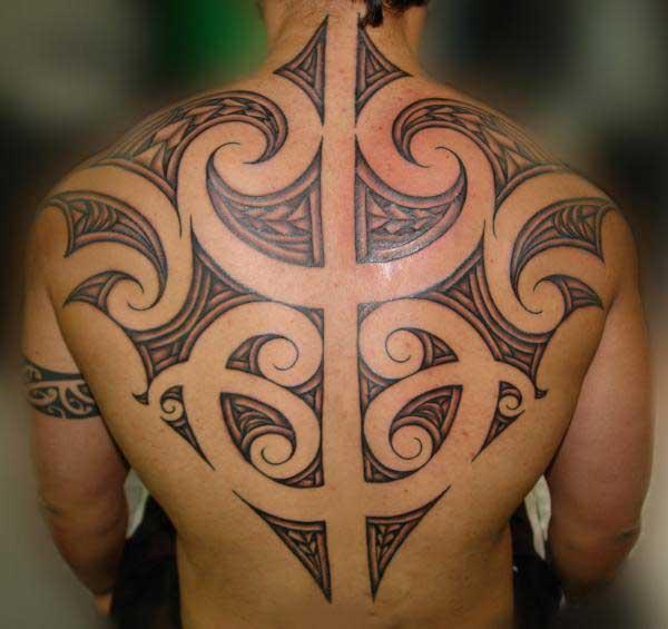 nyuma Tattoos za kikabila