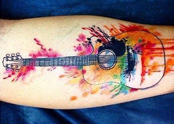 best guitar tattoos design ideas