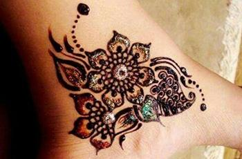 best henna design for ankle