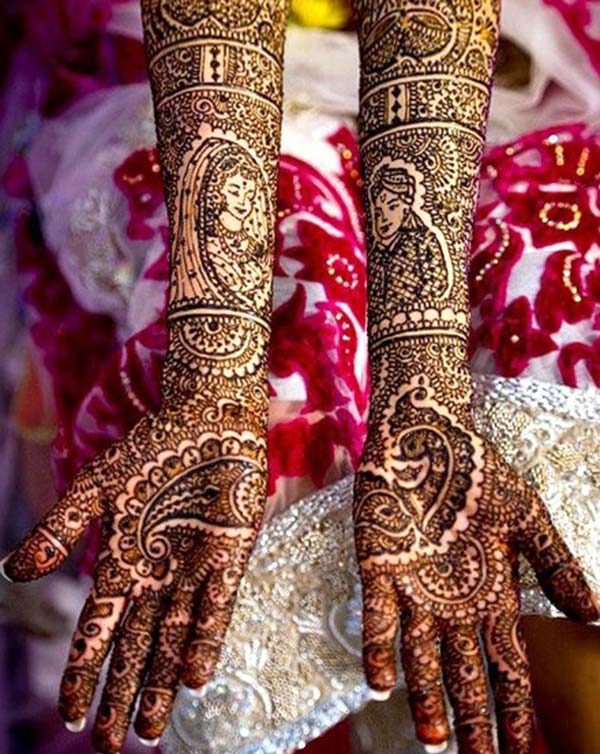 Bridal Mehndi tattoo mamorona hevitra