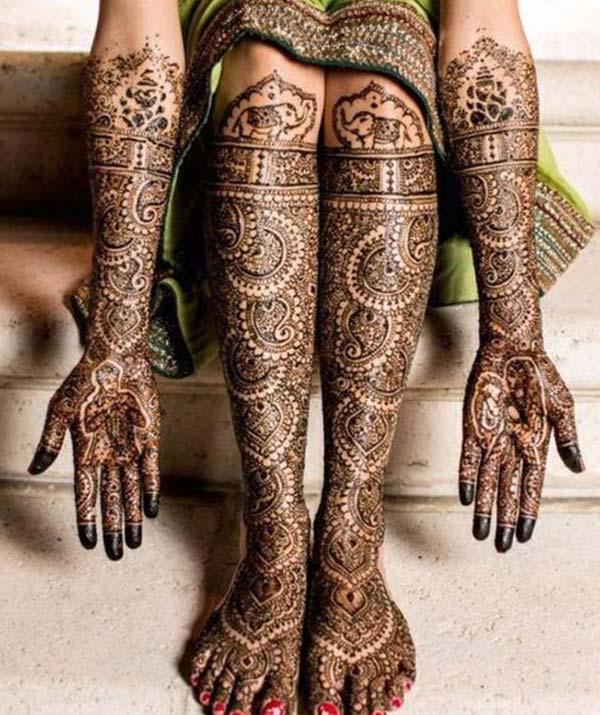 Bridal Henna / Mehndi tattoo mamorona hevitra