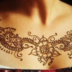 best henna design for chest