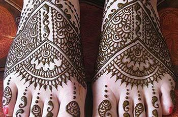best henna design for feet