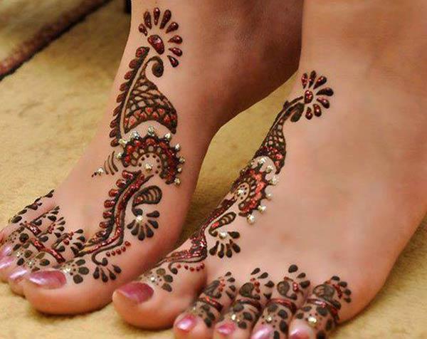 발 Mehndi 문신 디자인 아이디어