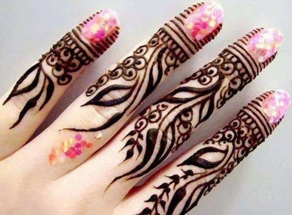 손가락 Mehndi 문신 디자인 아이디어