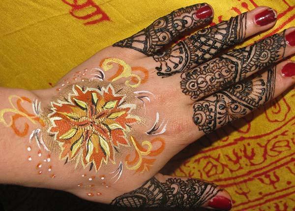 maamahi Mehndi whakaaro whakaaro tattoo