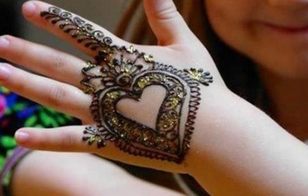 Kids Mehndi tattoo designs idee