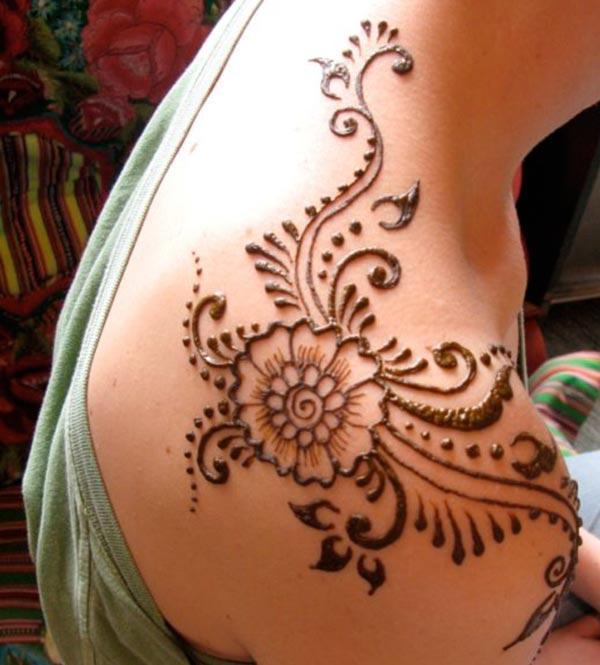 어깨 헤나 / Mehndi 문신 디자인 아이디어